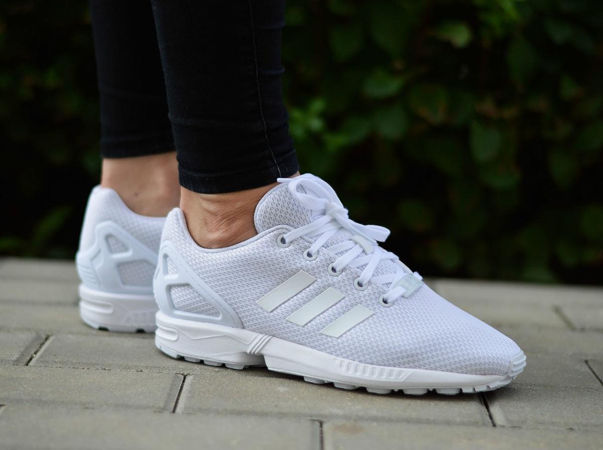 buty adidas zx flux białe